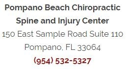 Pompano Beach Chiropractic Spine and Injury Center Location