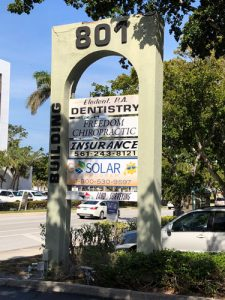 Chiropractic Delray Beach FL office sign
